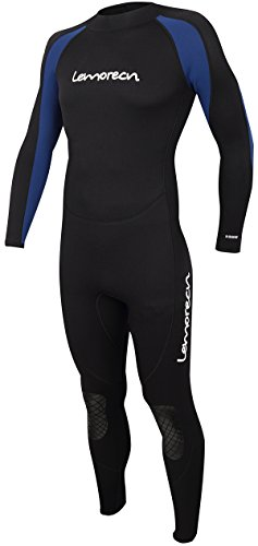 Lemorecn Wetsuits Jumpsuit Neoprene 3/2mm Full Body Diving - Mens Wetsuit