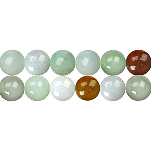 Undyed Natural Jadeite Beads for Jewelry Making AAA Genuine Round 6mm Maily Green Jade Gemstone Sold by One Strand APX 60 Pcs Hole Size 1mm