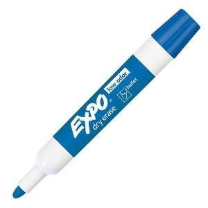 Expo Low-Odor Dry Erase Markers, Bullet Tip, Blue, Case of 12 Dzs by Expo
