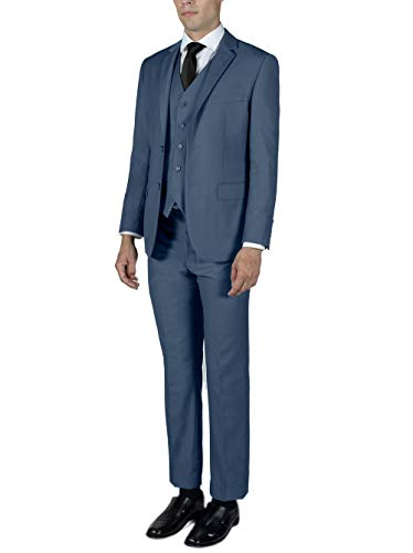 Alain Dupetit MenÕs Three Piece TR Blend Suit 42R Slate Blue