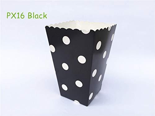 - XLPD 12Pcs/Lot Mini Blue Polka Dot Party Popcorn Boxes Pop Corn Bag Snack Favor Boxes Wedding Birthday Outdoor Festive Party Supplies PX16 Black Polka Dot