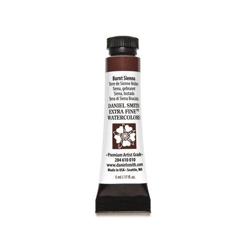 Daniel Smith 284610010 Extra Fine Watercolors Tube, 5ml, Burnt Sienna