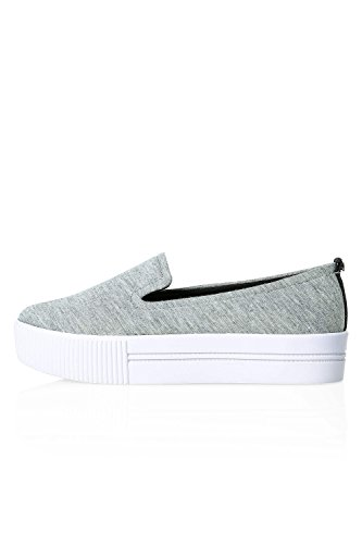Only Damen Slip On Sneaker Low Top Skater Slip-Ons Light Grey Melange