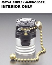 Leviton 7092-M Metal Shell Lampholder Interior Only LO-MED-HI-OFF Pull Cord Nylon Operator (Bulk Package of 250)