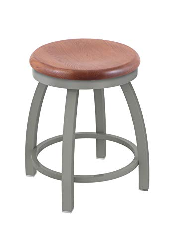 Holland Bar Stool Co. 80218ANMedOak 802 Misha Vanity Stool, 18