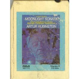Favorite Sonatas - Artur Rubinstein: Three Favorite Beethoven Sonatas, Moonlight/Pathetique/Appassionata 8 track tape