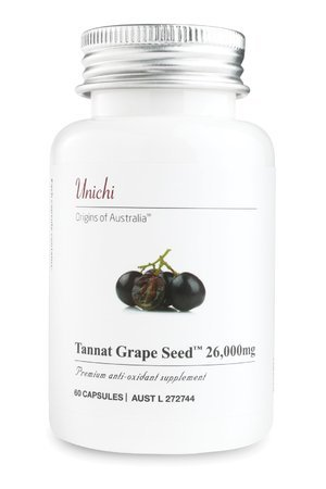 Uinchi Tannat Grape SeedTM 26,000mg (60 capsules) imported from Australia by Uinchi