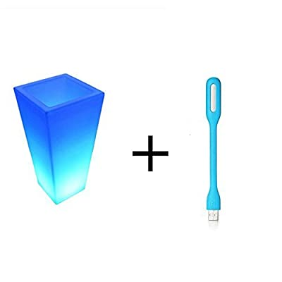 Original Xiaomi USB Light, Xiaomi LED Light with USB Interface Portable Night Lamp for for Laptop PC Notebook Desktop Power Bank Mobile Phone Charger,etc.USB Port Device (Blue)