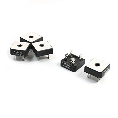 5 piezas de KBPC-1510 caja de Metal UNA fase Puente rectificador 15A 1000V