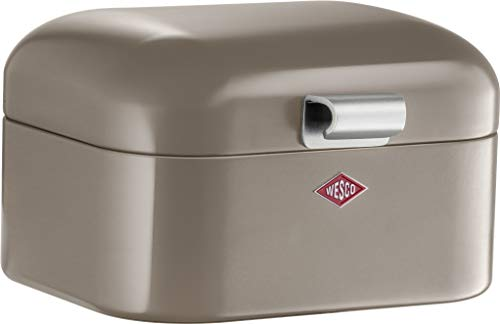 (Wesco Mini Grandy, Breakfast Box, Lunch Box, Sandwich Box, Warm Grey, Steel Sheet, 235001-57)