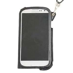conseguir Cuello Caja de cuero de cadena para Samsung Galaxy S3 I9300 (colores surtidos) , Azul