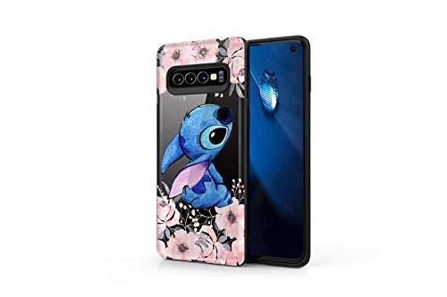 (Koldan Stitch Art Flowers Samsung S10 5G S10e Clear Silicone Case M30 M10 M20 Lilo and Stitch S8 S9 S10 Samsung Note 9 Note 8 Disney A9 A8 Plus A7 Samsung A50 A30 S10 Plus S9 Plus S8 Plus apa5)