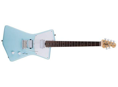 Sterling By MusicMan 6 String Solid-Body Electric Guitar, Right, Daphne Blue (STV60HH-DBL)