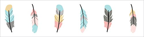 Sweet Jojo Designs Baby Childrens and Kids Wall Paper Border for Feather Collection