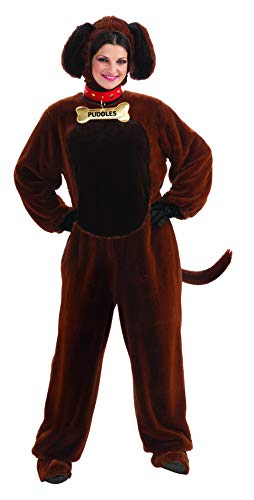 Puppy Costume For Adults (Forum Novelties Puddles The Puppy Costume, Brown,)