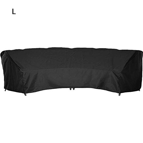 anne210 Outdoor Crescent Curved Sectional Sofa Cover, Waterproof Patio Furniture Sofa Cover, Lightweight, All Weather Protection,Curved Sofa Cover UV & Weather Resistant Customize Outdoor Sofa Cover (Curved Sofas)