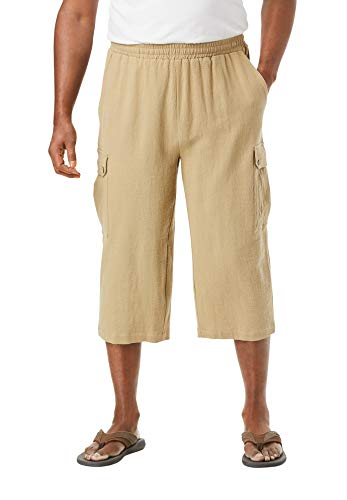 KingSize Men's Big & Tall Gauze Cargo Judo Shorts