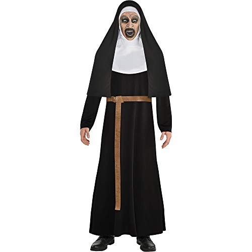 SUIT YOURSELF The Nun Nun Costume for Men, Standard Size, Includes a Robe, a Habit, a Long Belt, and a Full Face Mask]()