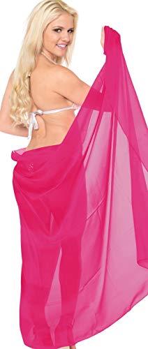 60 Bikini Étole Couleurs Fuschia Mousseline Cache Femme Piscine Sarong Robe maillot De Soie Paréo Plage Portefeuille Jupe Bain RnZ4qHWxw