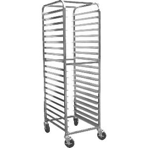 (BK Resources Full Height Bun Pan Rack Front Load Round Top 20-1/4