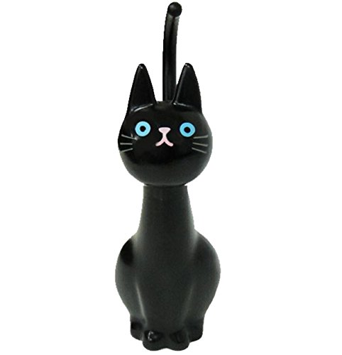 Cat Toothbrush Holder - Meiho ME02 Cat Toilet Brush Black