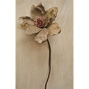 Natural Burlap Magnolia Stem Country Primitive Floral Décor 2