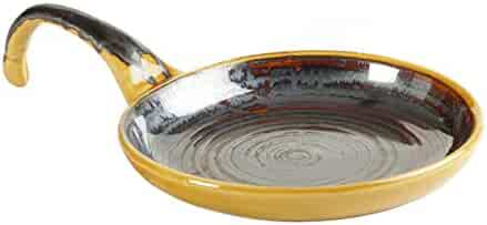 KLEO - Golden Yellow and Grey Studio Pizza Pan , Pizza / Pie Platter - Small