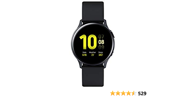 SAMSUNG SM-R830NZKAPHE Galaxy Watch Active 2 - Smartwatch de Aluminio, 40mm, Color Negro, Bluetooth [Versión española]