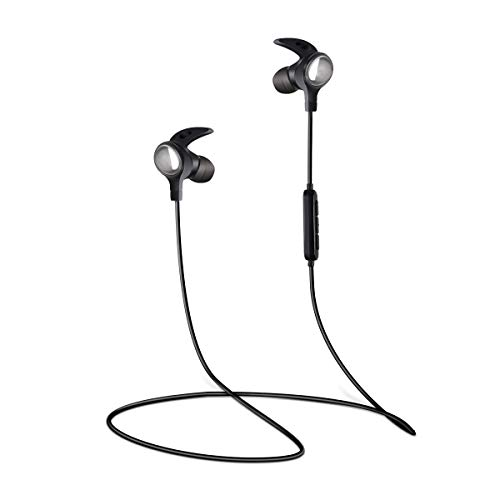 LERVEA Bluetooth Headphones with Mic, Wireless Bluetooth Earbuds Noise Cancelling Bluetooth in-Ear Earphones for Running