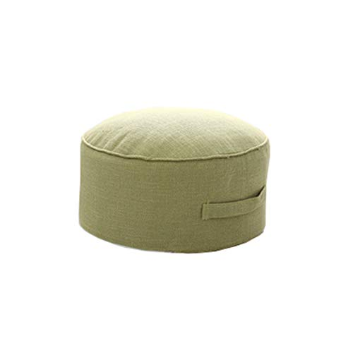 "JINGXIN Cotton & Linen Floor Seating Pad Round Futon Stool Case Washable - Diameter 15.7"",Green from JINGXIN"