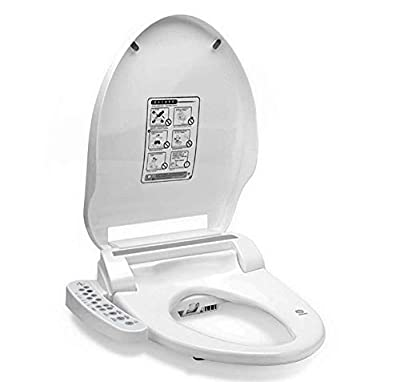 LIBINA - Smart Bidet Toilet Seats, Round Electric lids with Auto Heated Rear or Female Washing Hip Cleaning and Warm Air Dryer,Smart Toilet Cover, Bidet