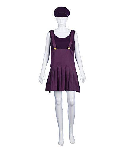 HalloweenPartyOnline Adult Women's Purple Bad Plumber Costume HC-376