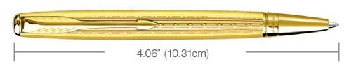 Parker Sonnet Mono 23K Gold Plated Chiseled Ballpoint Pen 1743560 by Parker