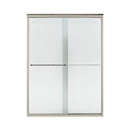 Sterling Plumbing 5375EZ-57N-G69 Finesse Double Panel Frameless Shower Door with Lake Mist Glass, 0.25