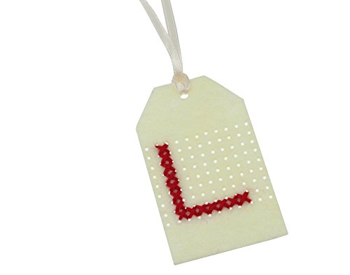 Sewing Kit to Make 3 Felt Cross Stitch Gift Tags | Adults Christmas Craft Kits (Tags Felt Gift)