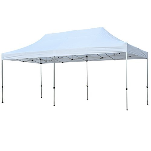 Aluminum Frame 10ft (Snail 10' X 20' Pop-up Outdoor Shelter, Heavy Duty Aluminum Canopy, Commercial Portable Tent, White)