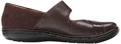 Clarks Un cisne Mary Jane plana Dark Brown Combination Leather