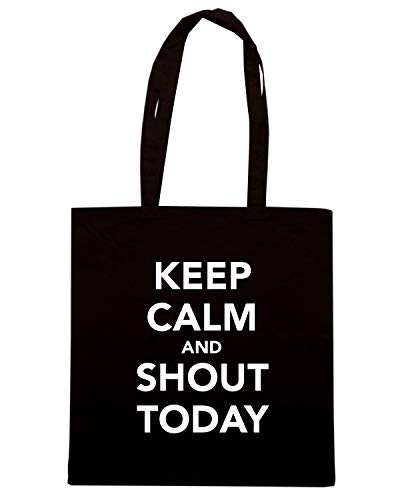 CALM Speed TODAY Borsa AND SHOUT Nera Shirt KEEP TKC0402 Shopper Wqfwq4BpR