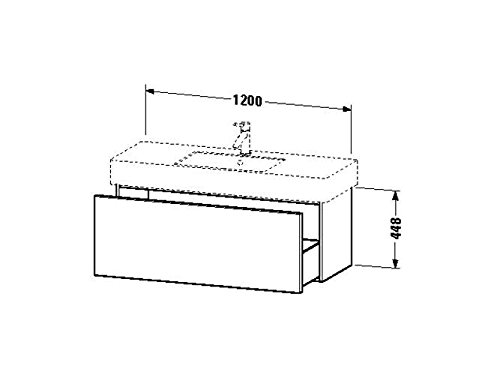 Duravit Waschtischunterschrank wandh. Delos 470x1200x448mm 1 Auszug, für 032912, eiche gebürstet, DL