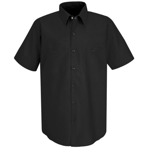 Red Kap Men's Industrial Short-Sleeve Work Shirt,Black, 3X-Large