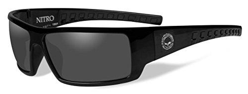 Harley-Davidson Men's Nitro Sunglasses, Smoke Lenses/Gloss Black Frames HANTR01 ()