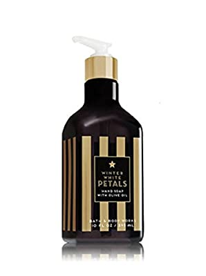 Bath & Body Works WINTER WHITE PETALS with Olive Oil Hand Lotion & Hand Soap Set with a Jarosa Bee Organic Peppermint Lip Balm
