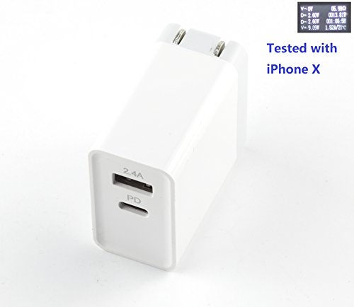 USB-C PD Charger, Nsiucion USB Type C 30W Wall Charger With Power Delivery for iPhone X iPhone 8 iPhone 8 - My What Is Pd