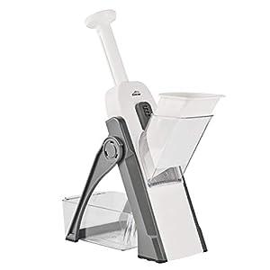 Lacor 60460 Mandolina verticale multifunzione pieghevole, 4 tipi di taglio, senza BPA, plastica 10