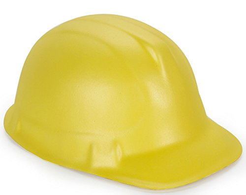 [Yellow Foam Child Construction Hat - One-Size] (Man Construction Worker Costume)