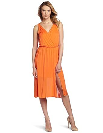 BCBGMAXAZRIA Women's Alka Sleeveless V-Neck Dress, Vermillion, Small