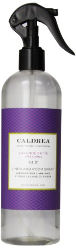 Caldrea Linen and Room Spray, Lavender Pine, 16 Fluid Ounce (Pack of 2)