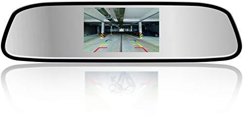 (Yanees Car Rear View Mirror Monitor - TFT LCD Monitor 4.3 inch)
