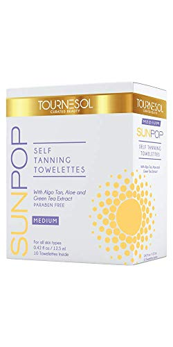 SunPop Self Tanning Towelettes Medium 10-count - self tan - tanning towels