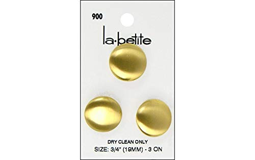 LaPetite Buttons 3/4″ Shank Gold 3pc